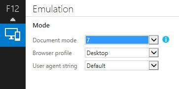 Internet Explorer Emulation mode